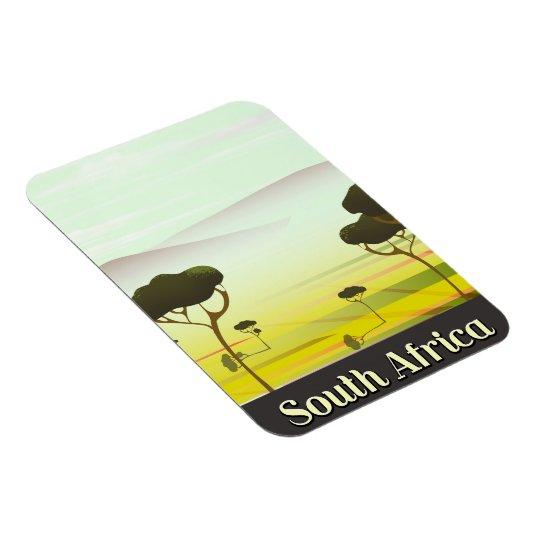 South African landscape evening travel poster Magnet