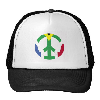South African peace sign Cap