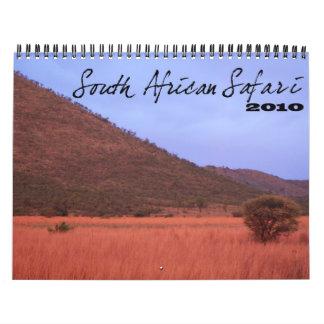 South African Safari Calendar
