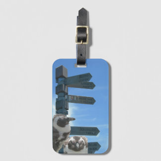 South African Signpost + Penguins Luggage Tag