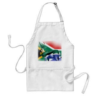 South African Springbock Flag Apron