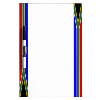 South African stripes flag Dry Erase Board