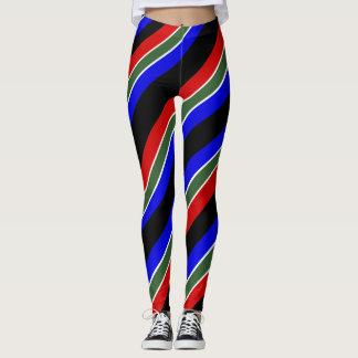 South African stripes flag Leggings