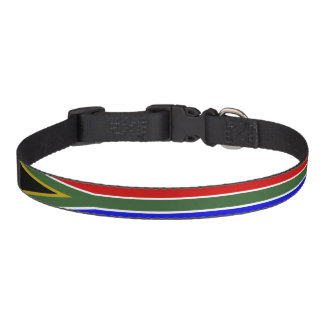 South African stripes flag Pet Collar