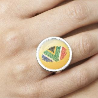 South African touch fingerprint flag
