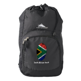 South African touch fingerprint flag Backpack