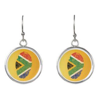 South African touch fingerprint flag Earrings