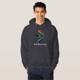 South African touch fingerprint flag Hoodie