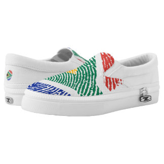 South african touch fingerprint flag slip on shoes