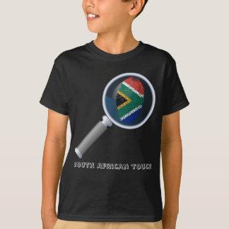 South african touch fingerprint flag T-Shirt