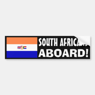 South Africans Aboard! Bumper Sticker