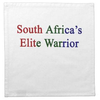 South Africa's Elite Warrior Printed Napkin