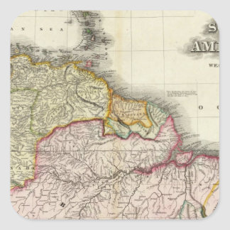 South America and West Indies 2 Square Sticker