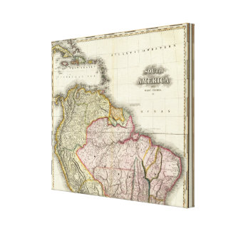 South America and West Indies Stretched Canvas Print