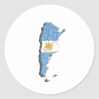 South America: Argentina Classic Round Sticker