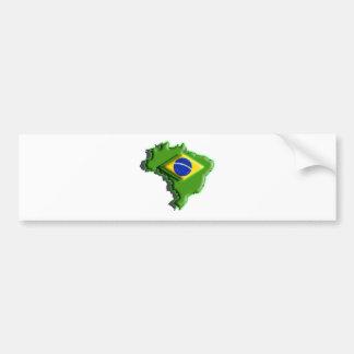 South America: Brazil (3d) Bumper Sticker