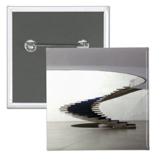 South America, Brazil, Brasilia. Interior 15 Cm Square Badge