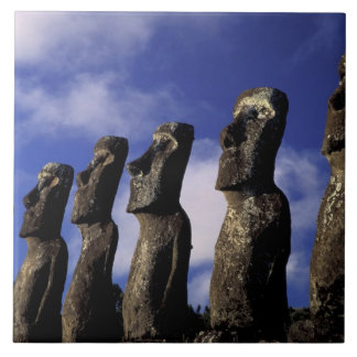 South America, Chile, Easter Island, Ahu Akiri. Ceramic Tile