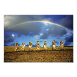 South America, Chile, Easter Island. The full Photograph