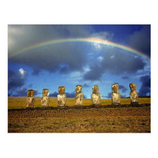 South America, Chile, Easter Island. The full Postcard