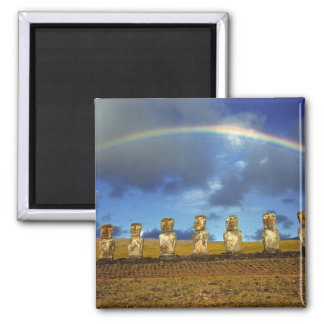 South America, Chile, Easter Island. The full Square Magnet