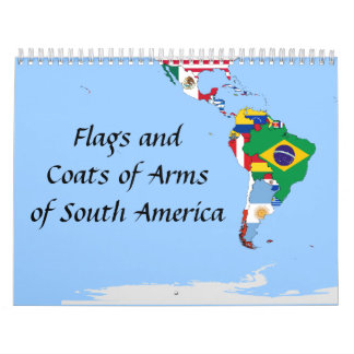 south america flags wall calendars