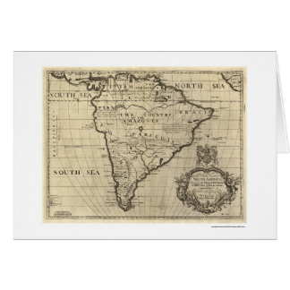 South America Map 1700 Card