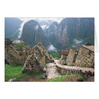 South America, Peru, Machu Picchu Card
