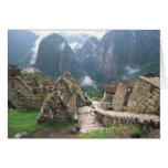 South America, Peru, Machu Picchu Greeting Cards
