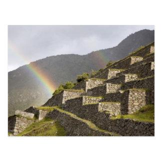 South America, Peru, Machu Picchu. Rainbows over Post Cards