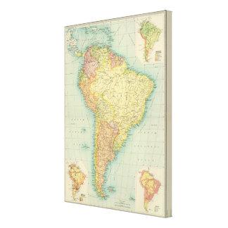 South America political Canvas Print
