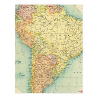 South America political Postcard