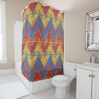South American Pattern Shower Curtain