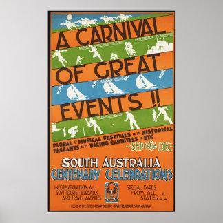 South Australia centenary celebrations Poster