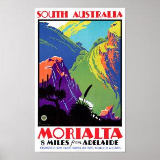 South Australia Morialta Vintage Travel Poster