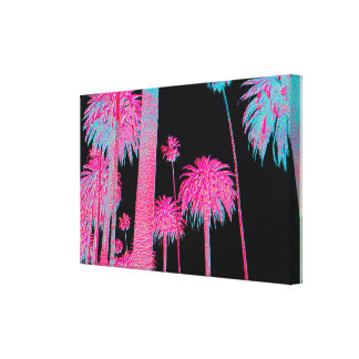 South Beach Art Deco Miami Florida Neon Canvas Art