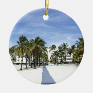 South Beach Ceramic Ornament