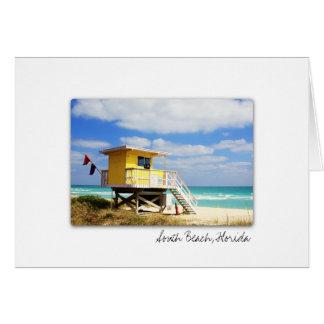 South Beach Florida Greeting Card