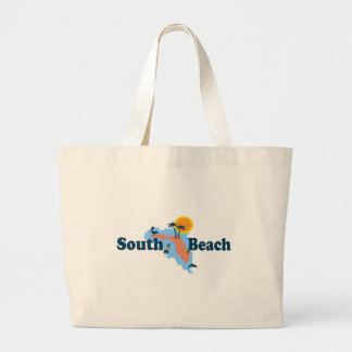 South Beach, Large Tote Bag