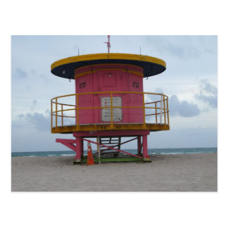 South Beach Life Guard Stand Postcard