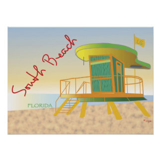 South Beach Lifeguard Station Poster