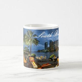 South Beach Miami Basic White Mug
