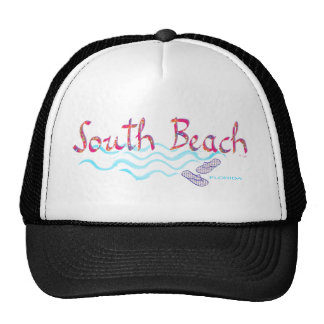 South Beach Miami Flip Flops Trucker Hat