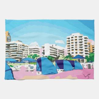 SOUTH BEACH, MIAMI, FLORIDA KITCHEN TOWEL