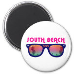 South Beach Miami sunglasses 6 Cm Round Magnet