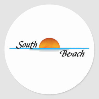 South Beach Round Sticker
