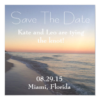 South Beach Save the Date Magnet! Magnetic Invitations