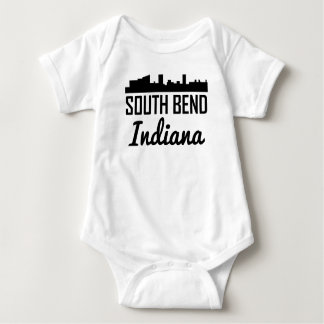 South Bend Indiana Skyline Baby Bodysuit