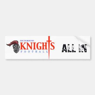 South Boston High School Knights Bumper Sticker
