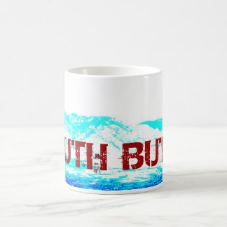 South Butte White, Blue, and Red Coffee Mug